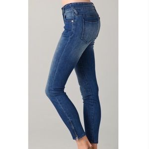 Free People skinny jeans ankle zip 27